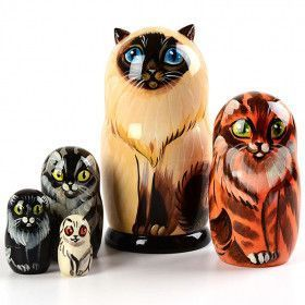 Kitty Cats Matryoshka Doll