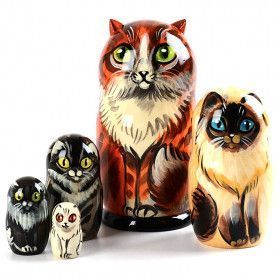 Beautiful Cats Stacking Doll