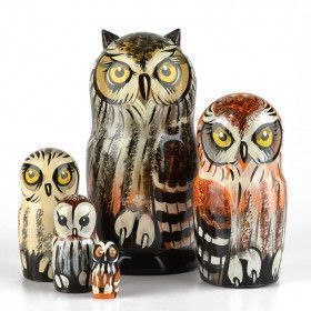 Parliament of Owls Nesting Doll