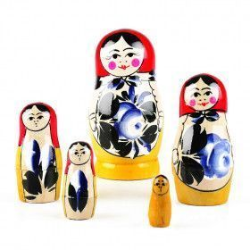 Blue Flowers Matryoshka Doll