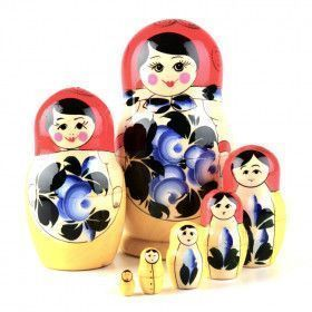Traditional 7pcs. Floral Nesting Doll