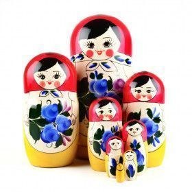 Blue Flowers Traditional Matryoshka
