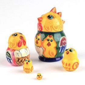 "2"" Tall Chicken Nesting Doll"