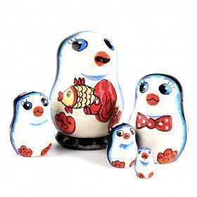 "2"" Tiny Penguins Family Doll"