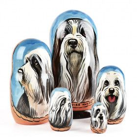 Bearded Collie Nested Dolls