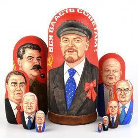 10 Russian Rulers Historical Nesting Doll