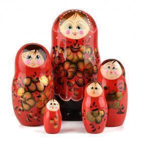 Red, Black, and Gold Matryoshka