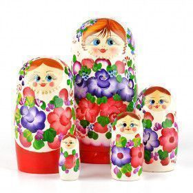 Floral Blossom Beauty - White & Red Doll