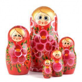 Red 5pc Nesting Doll