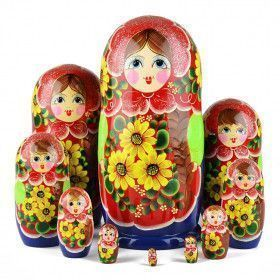 Yellow Sunflowers 10 Pcs. Doll