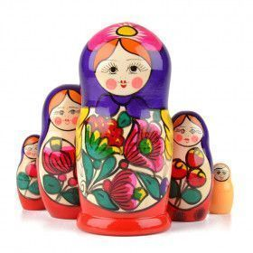Purple & Red Maiden Nesting Doll