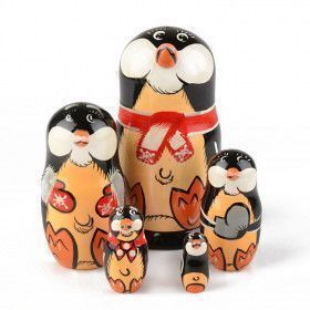 Matryoshka Penguin 5 pcs