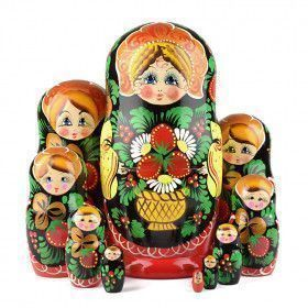Berries Girl Russian Matryoshka 10 pcs