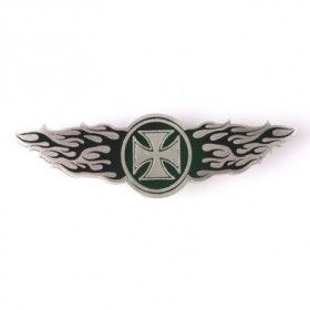 Iron Cross Wings Motorcycle Pin