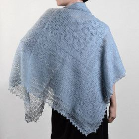 Blue Russian Orenburg Shawl