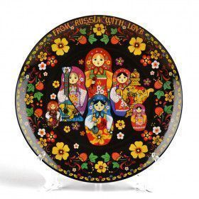 From Russia with Love Matryoshka Plate - Black