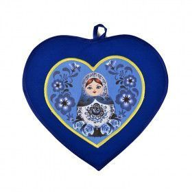 Heart Shaped Potholder - Blue