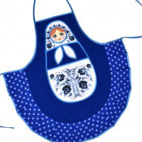 Blue Kitchen Apron - Russian Doll