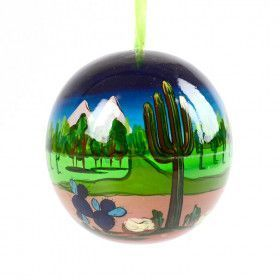 Desert Night Wooden Ornament Ball