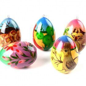 Southwest Animals Eggs Ornament Set