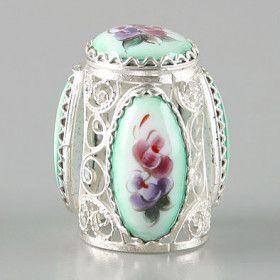 Russian Filigree Enamel Finift Thimble