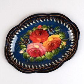 Small Blue Oval Tray
