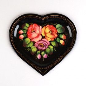 Zhostovo Heart Tray