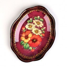 Dark Pink Russian Tray