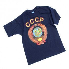 Soviet CCCP Blue T-Shirt-Medium