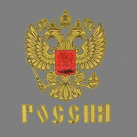 Russian Coat of Arms Souvenir T-Shirt Grey