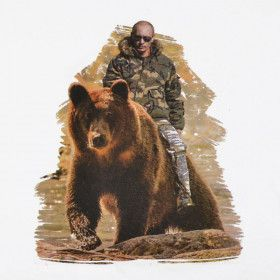 Putin Riding A Bear Russian T-Shirt