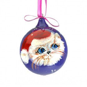 Christmas Cat Ball Ornament
