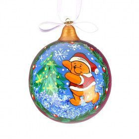 Pooh Christmas Ball Ornament