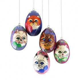 Kittens Eggs X-Mas Ornaments