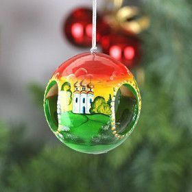 Russian Church Tree Ornament with Bell