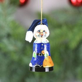Santa Wooden Christmas Tree Bell