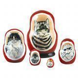 "1 1/2"" Tall Tiny Cats Matryoshka"