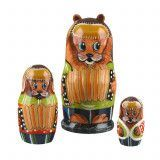 Dog Family Play Accordion Matryoshka