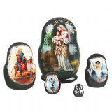 "1 1/2"" Tall Tiny Religious Matryoshka"