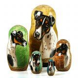 Smooth Fox Terrier Stacking Doll