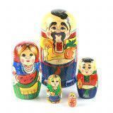 Ukrainian Family Babushka Doll