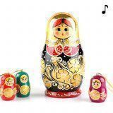 AS IS - Golden Musical Matryoshka Doll
