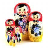 Matryoshka with Blue Flowers