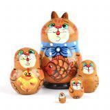 "2"" Tall Nested Cats Doll"