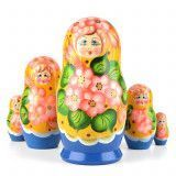 Pink Posy 5 pc Babushka Doll