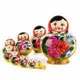 Round Red Roses Matryoshka
