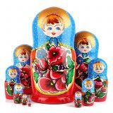 Cheerful Maiden 10 pcs Matryoshka
