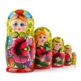 Yellow & Red Maiden Nesting Doll