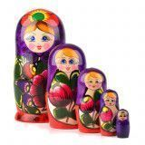 Purple & Red Maiden Nested Doll