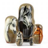 Nesting Doll With Horses